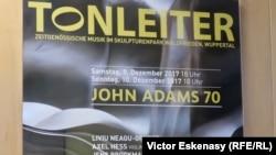 Afișul concertului aniversar de la Wuppertal