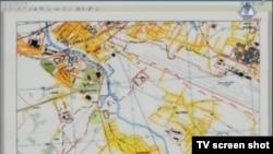 Mapa Sarajeva prikazana na suđenju