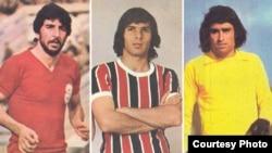 فوتبالیست های برجسته ارمنی از راست به چپ: وازگن صفریان، کارو حق وردیان، آندرانیک اسکندریان