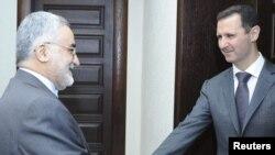 دیدار علاءالدین بروجردی، نماینده مجلس ایران، با بشار اسد در سوریه