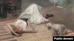 Робэрт Люндбэрг, «Мадэль з цыгарэтай» (1890)