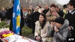 Похороны жертв аварии. 13 ноября 2008 года