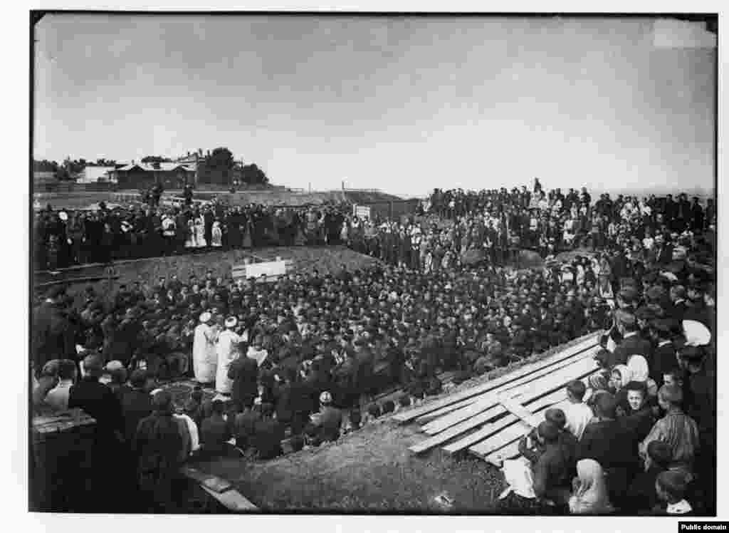 Түбән Новгородта Җәмигъ мәчеткә нигез ташы салу тантанасы, 1902