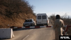 A border crossing between South Ossetia and Georgia (file photo)