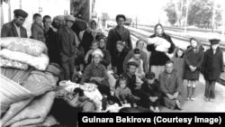 Крымские татары, изгнанные из Крыма в июне 1969 года. Архив автора