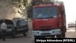 car fire Baku
