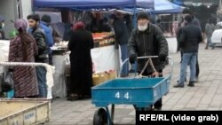 На рынке в Таджикистане. 2020 год.