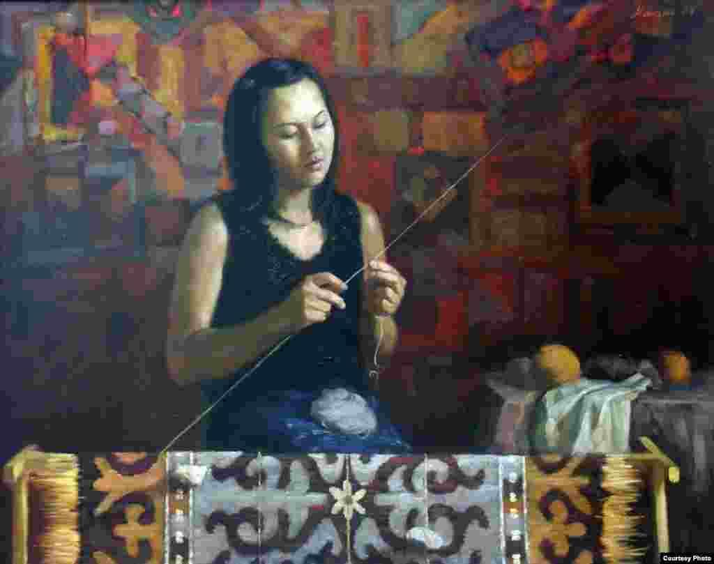"""""""Насият"""" (портрет младшей сестры)."""