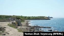 Брегът на Черно море край Севастопол