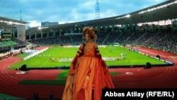 Церемонија за отворањето на Светското фудбалско првенство за жени под 17 години во Баку на 22 септември 2012 година.