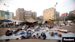 Сторонники Мохаммеда Мурси установили палатки на одной из площадей Каира