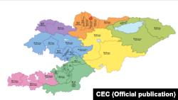 Карта избирательных округов.