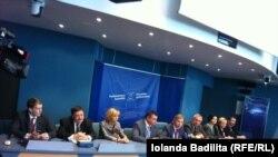 Пресс-конференция российской делегации в Страсбурге, 10 апреля 2014 г.