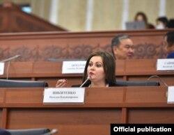 Gyrgyzystanyň parlamentiniň deputaty Natalýa Nikitenko