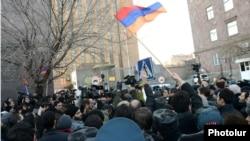 Բողոքի ցույցը Երևանում Ռուսաստանի դեսպանատան դիմաց, 15-ը հունվարի, 2015թ․