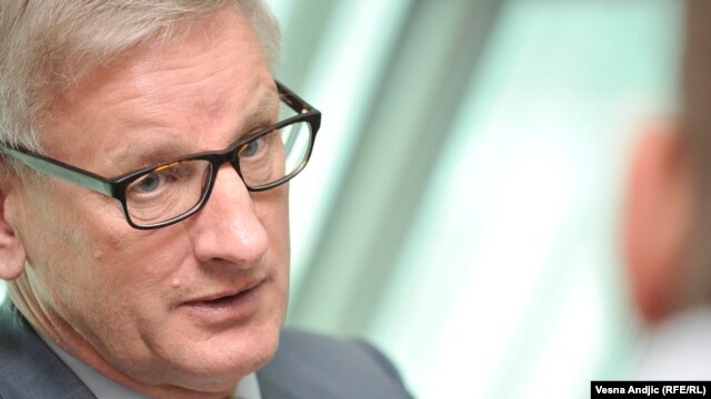 Swedish politician and vocal Kremlin critic Carl Bildt