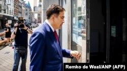 Նիդերլանդներ - Վրաստանի նախկին նախագահ Միխեիլ Սաակաշվիլին Հաագայում, մայիս, 2018թ․
