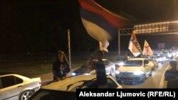 Protestne litije automobilima, na prilazu Podgorici. 23. avgust 2020.