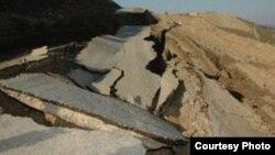 Оползневая зона в Девечи, 2007 год