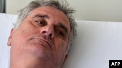 Serbian opposition leader Tomislav Nikolic in a Belgrade hospital