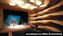 A planned interior of the Sevastopol opera house