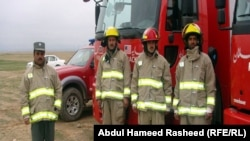 Afghanistan - The fire fighter's team is prepared to help the passengers who would like to participate in Mela-e-Gule Sorkh with any fire cases in Baghlan - Mazar-e-Sharif highway, Balkh province, 18Mar2011