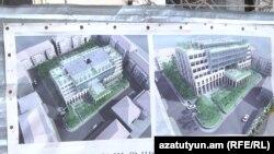 Նալբանդյան, Թումանյան, Պետրոսյան փողոցների միջանկյալ բակի կանաչ տարածքը «բետոնի է վերածվել, հատվել են տասնյակ ծառեր»