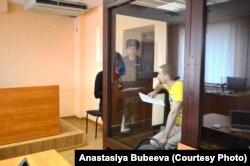 Андрей Бубеев в зале суда