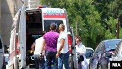 Zgrada makedonskog ministarstva zdravlja ispred koje je pucano