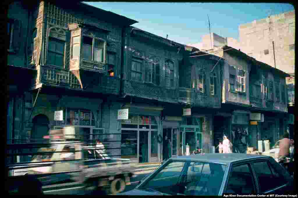 A street scene in Aleppo in 1991. Assad's response to the attacks was further repression from his network of security forces. Then, in 2000, Hafez al-Assad died of a heart attack.