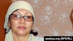 Нұрлыбек Нұрғалиевтің әйелі Гүлжамал Нұрғалиева. Жаңаөзен, 15 қаңтар, 2012 года.
