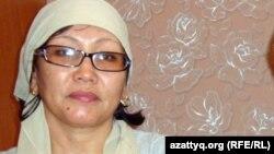 Гульжамал Нургалиева, жена нефтяника Нурлыбека Нургалиева, раненного в массовых беспорядках в Жанаозене, 15 января 2012 года.