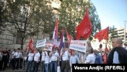 Serb protestçileri. Arhiw suraty