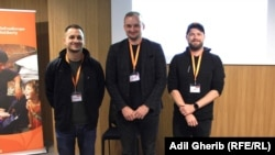 RFE/RL Hackathon third place prize winners.