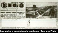 Partidul era obsedat să prezinte imensul furt al proprietății țărănești drept o victorie pe calea către comunism. Colectivizare s-a încheiat în 1962, de când este acest exemplar al Scânteii. Sursa: Fototeca online a comunismului românesc, cota: 2/1962