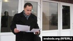 Кіраўнік слуцкай арганізацыі партыі БНФ Віталь Амяльковіч, архіўнае фота