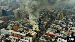 Pamje nga shpërthimi në Nju Jork