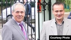 Президент Татарстана Минтимер Шаймиев (слева) и его бывший пресс-секретарь Ирек Муртазин (справа).