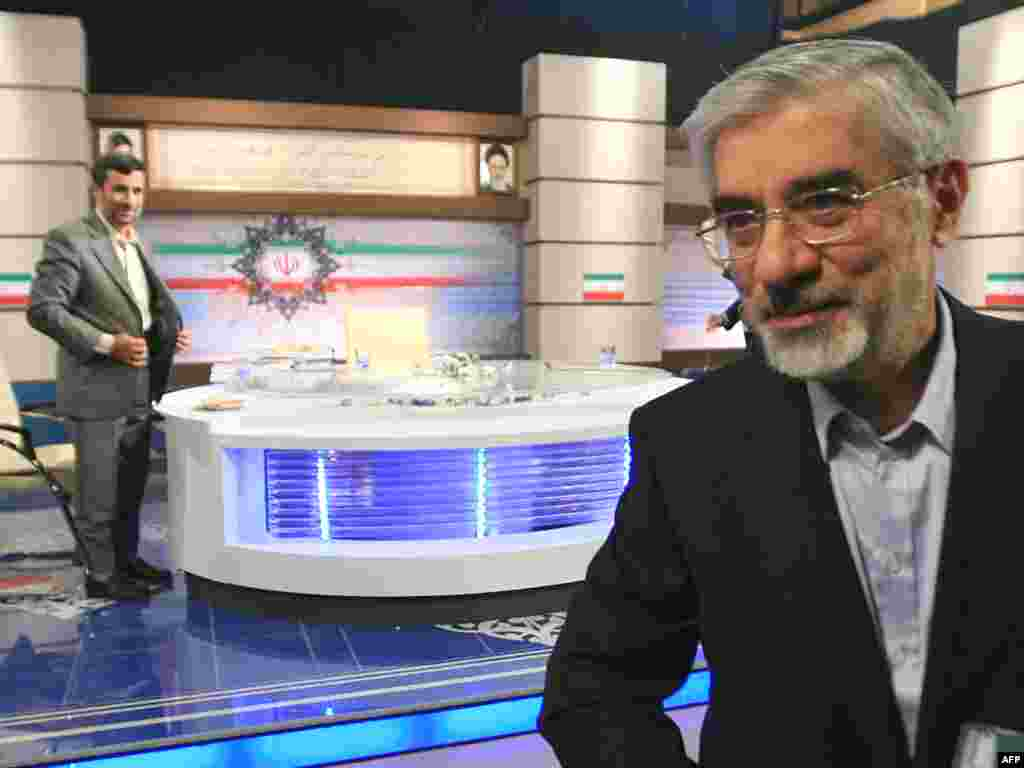 Sparks flew during reformist Mir Hossein Musavi's debate with Ahmadinejad on June 3, the presumed front-runners.