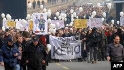 Protest u Skopju u januaru 2015.