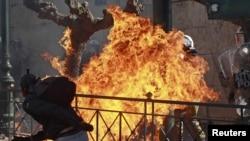 Беспорядки в греческой столице