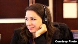 Azerbaijan -- Nushabe Fatullayeva, RFE/RL Azeri Service investigation journalist, Baku, April 10, 2013.