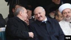 Alyaksandr Lukashenka və Recep Tayyip Erdogan
