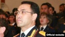Аким Акмолинской области Кайрат Кожамжаров в бытность главой финансовой полиции.