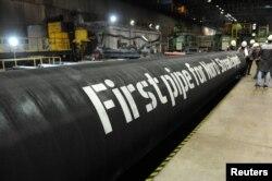 """Трубы для проекта """"Северный поток – 2"""", участники которого могут стать объектом американских санкций"""