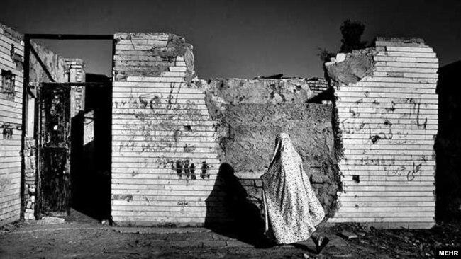 نمایی از ویرانههای جنگ ایران و عراق در خرمشهر