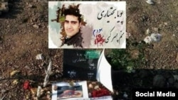 Grave of Pouya Bakhtiari who was killed by security forces in Novermebr, in Beheshe Sakineh in the town of Karaj, west of Tehran, December 26, 2019.