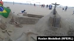 Так пляжы Капакабаны сустракаюць Алімпіяду