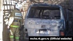 Пожар в гараже в Щебетовке, 19 марта 2019 года