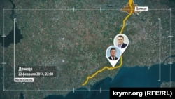 Шлях Януковича з Донецька до Мелітополя